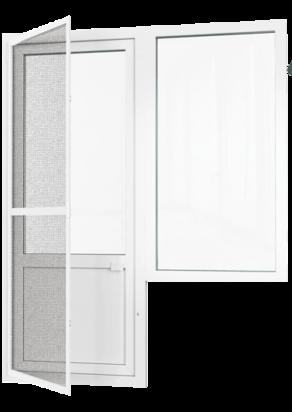 Балконные двери с москитной сеткой